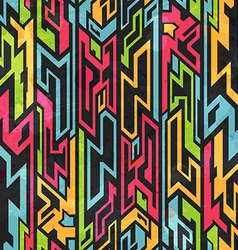 Colored tribal graffiti seamless pattern vector