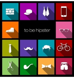 colorful icons hipster vector image vector image