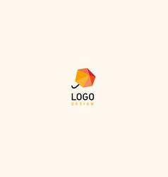 Creative geometric logo abstract umbrella vector