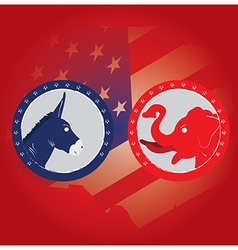 Democrat and Republican vector image