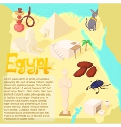 Design egypt map travel and landmark concept vector