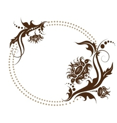 floral frame for design of invitation vector image vector image