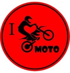 I like motorcycle vector