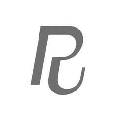 Letter R Logo Concept Icon vector image vector image