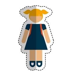 little girl student avatar vector image