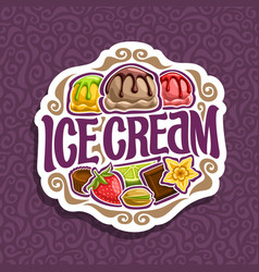 Logo for ice cream vector