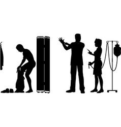 medical examination vector image