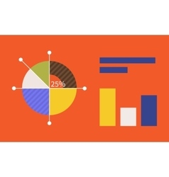 Pie Chart Flat Sign Design Concept vector image vector image