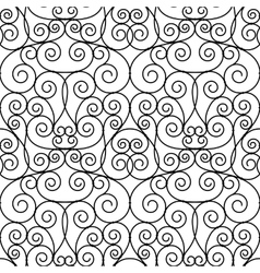 Seamless forged openwork metal abstract black vector