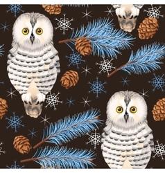 Seamless polar owl vector image
