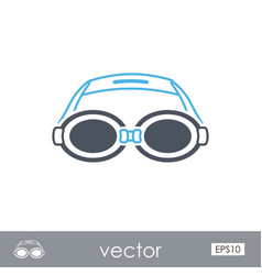 Swimming goggles outline icon summer vacation vector