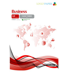 The paper business vector