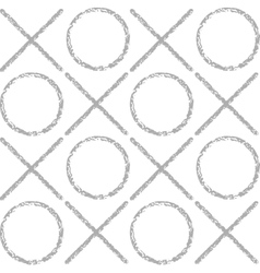 The pattern of gray grunge circles and crosses vector