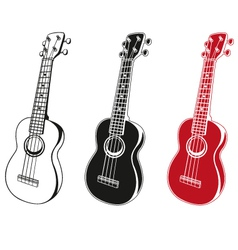 ukulele set vector image
