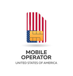 United states of america mobile operator usa sim vector