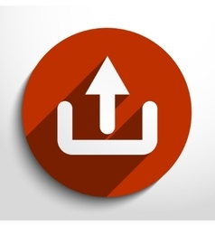 Upload cloud flat icon vector image