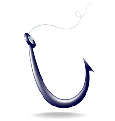 Icon fishhook vector