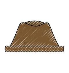 Vintage hat fashion vector
