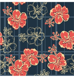 Hibiscus flowers wallpaper vector