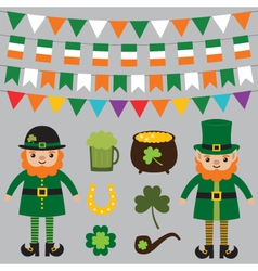 Set for st patricks day vector