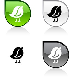 Bird button vector