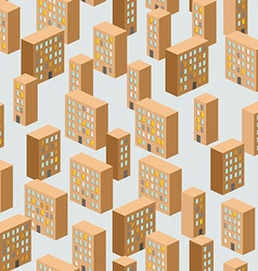 Building seamless pattern background of the city vector