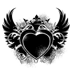 Decorative form of heart vector