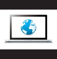 Modern laptop with world wide web vector
