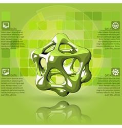 Scientific green infographics vector