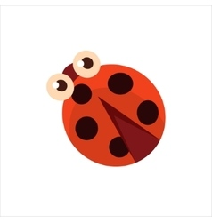 Ladybug from above icon vector