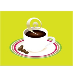 Cup of coffee and saucer vector