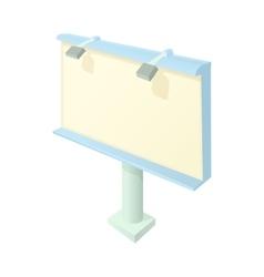Billboard icon in cartoon style vector image