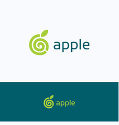 apple spiral company logo vector image