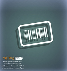 Barcode icon symbol on the blue-green abstract vector image