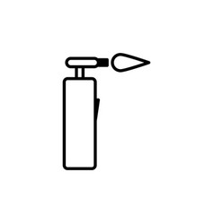 blowtorch icon vector image vector image
