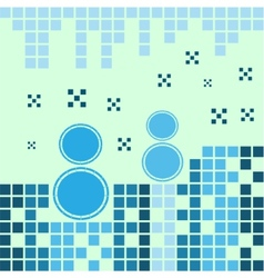 Blue snowmen vector
