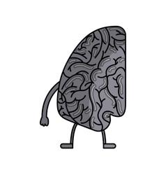 Brain human kawaii character vector
