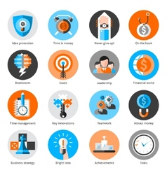Business Concept Icons Set vector image vector image