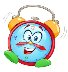 cartoon alarm clock vector image vector image