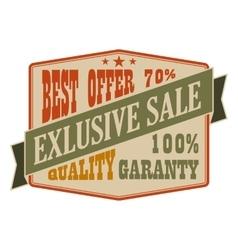 Exclusive sale vintage banner vector