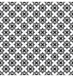 Floral geometric monochrome elegant seamless vector