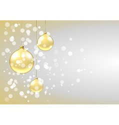 Golden baubles card vector image