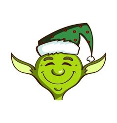 Isolated Green Elf vector image vector image