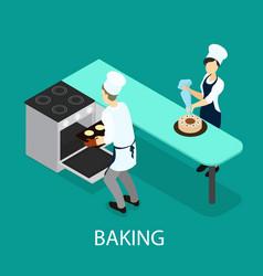 Isometric baking concept vector