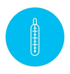 Medical thermometer line icon vector image