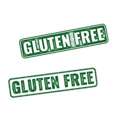 Realistic gluten free grunge rubber stamp vector