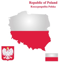 Republic of poland flag vector