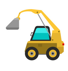 type of agricultural vehicle or harvester machine vector image