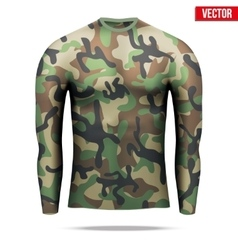 Under layer compression shirt with long sleeve in vector