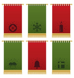 Christmas wall hangings vector